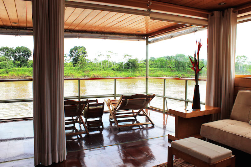 Views of the Amazon jungle from the Anaconda Cabin.