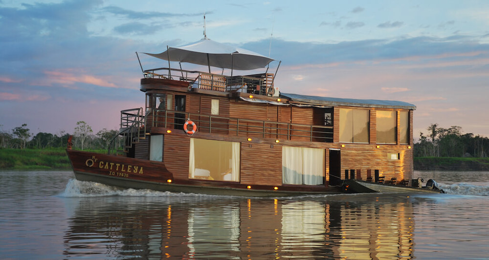 The Cattleya is a beautiful boutique vessel sailing the Peruvian Amazon.