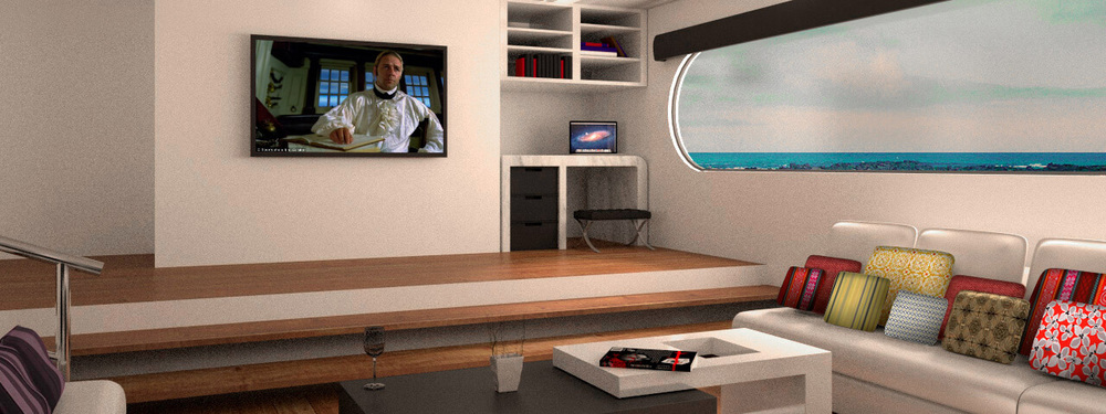 Petrel luxury catamaran lounge