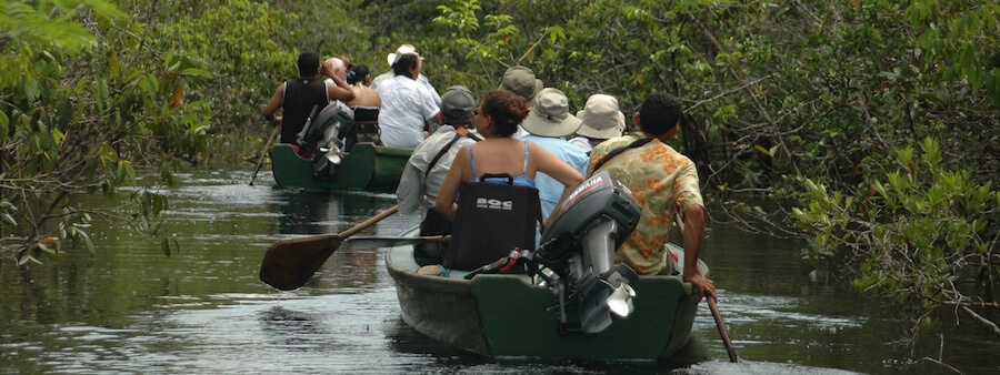 Skiff rides on the Amazon's tributaries and channels
