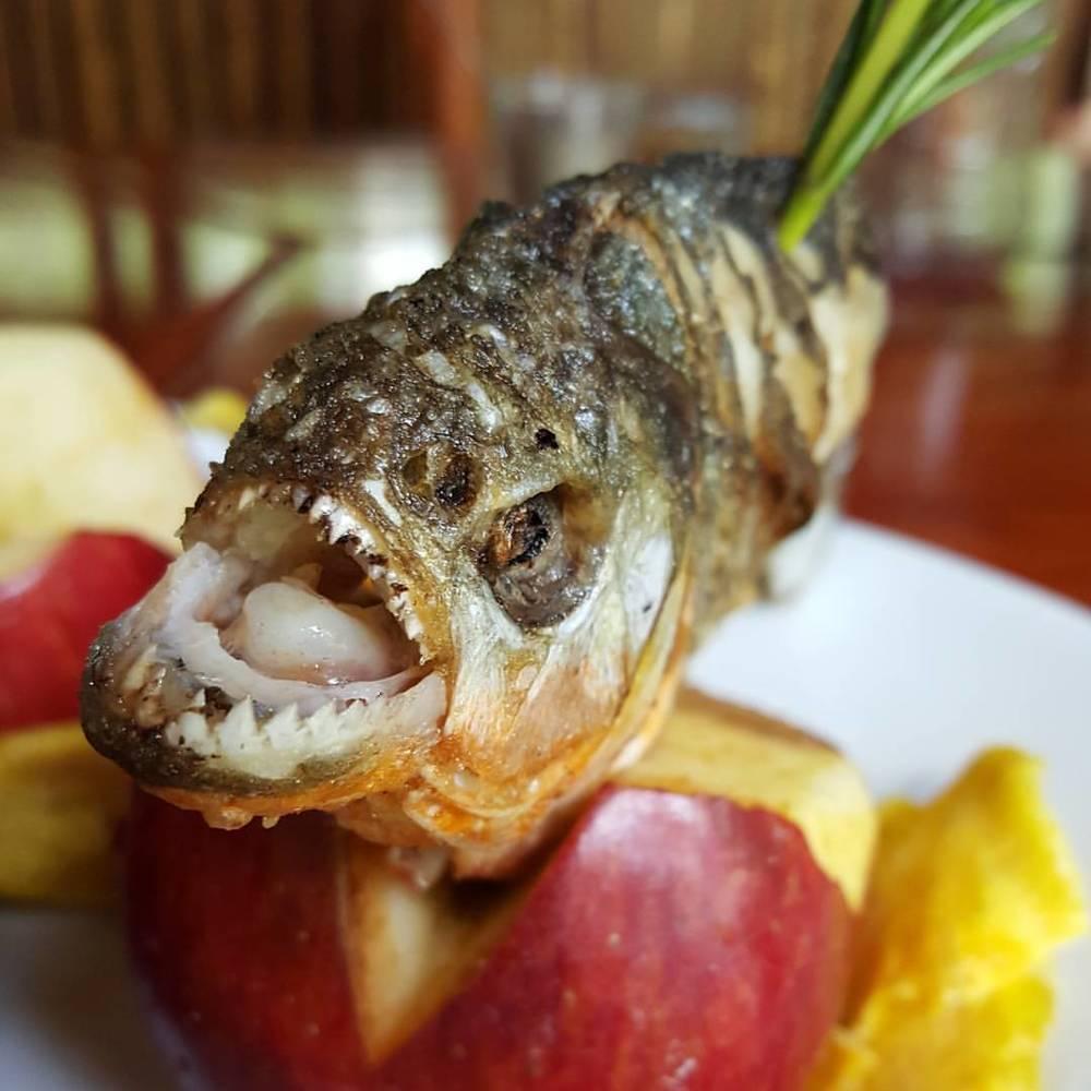 Cooked Piranha Fish.