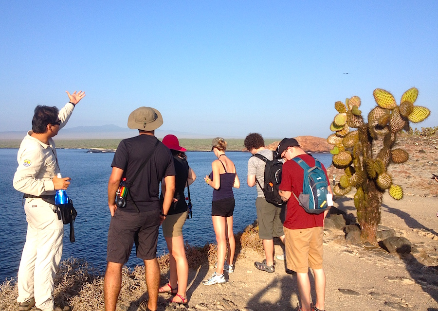 galapagos hiking