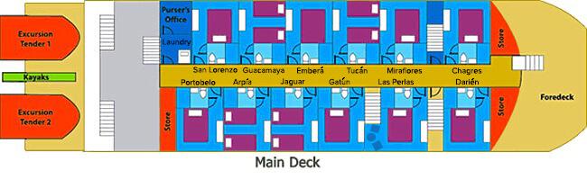 main deck panama discovery