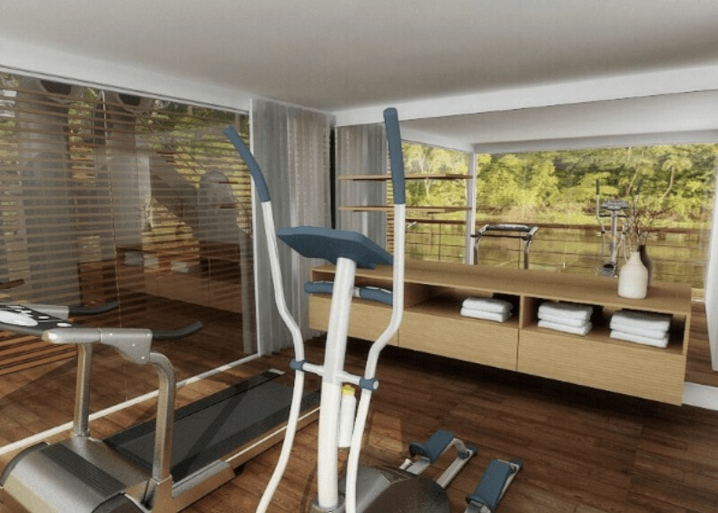 The luxurious Zafiro riverboat even has an exercise room - should you want to use it!
