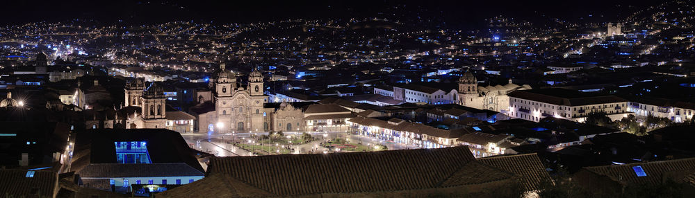 Cusco's Main Square at Night. Photo: Martin St-Amant - Wikipedia