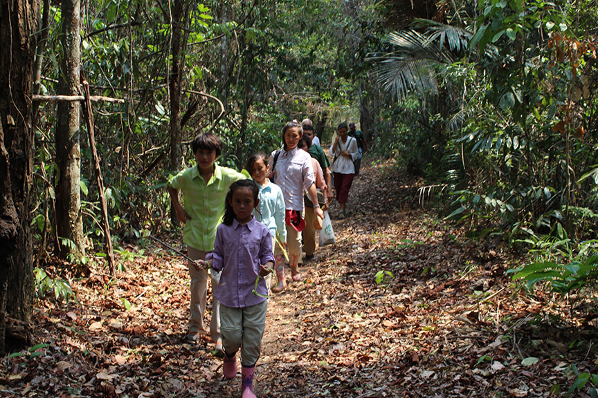 Rainforest hike on the Amazon Dream itinerary