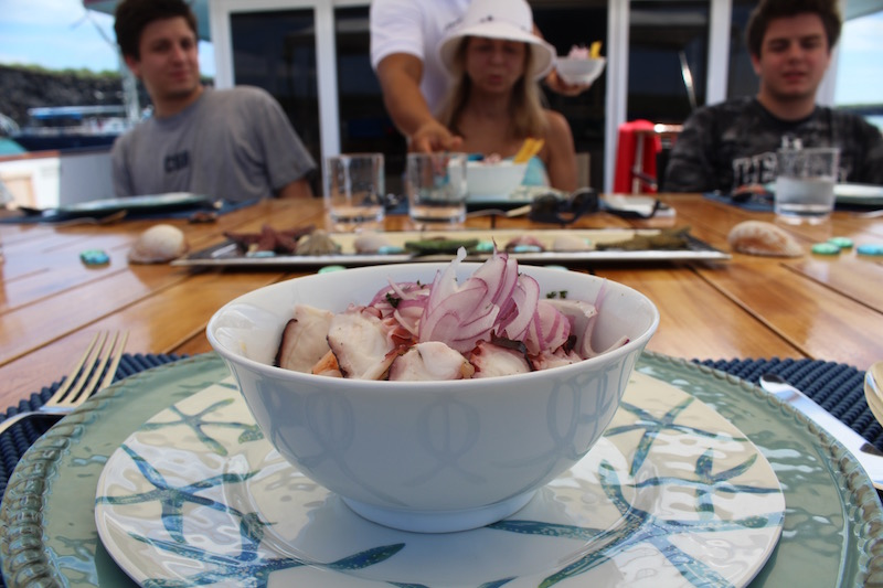 Ceviche served at Lunch.