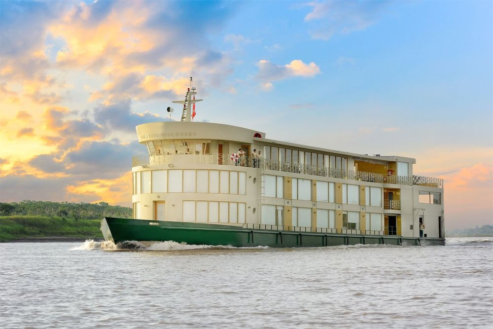 The stunning Amazon Discovery riverboat.