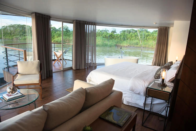 Suite on the Zafiro Amazon Cruise.