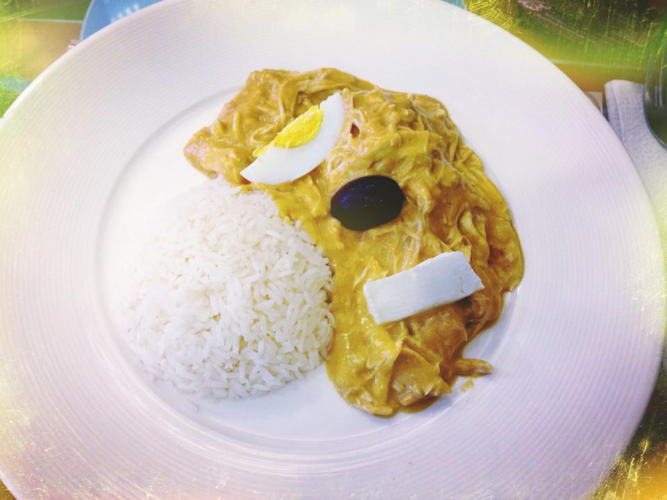 Peruvian Aji de Gallina, a typical Criolla dish.