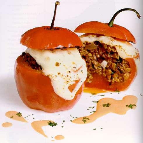 Peruvian Rocoto Relleno, or Stuffed Peppers.