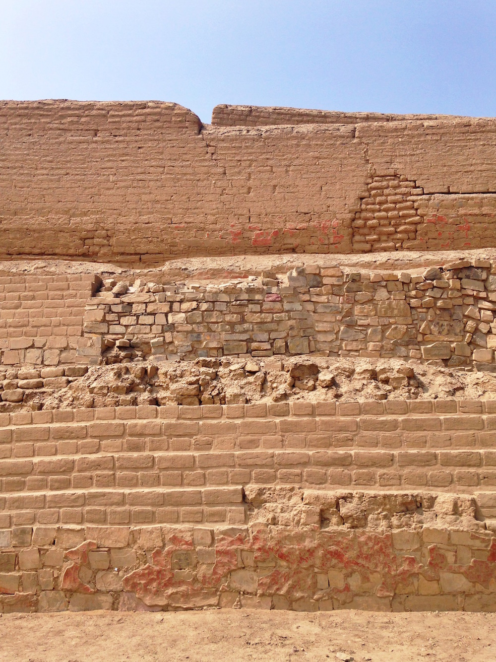 Walls of the Painted Temple, Pachacamac.