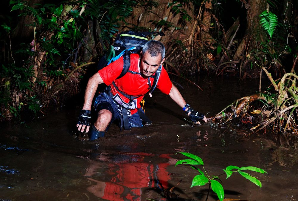 Through the waters during the Jungle Marathon