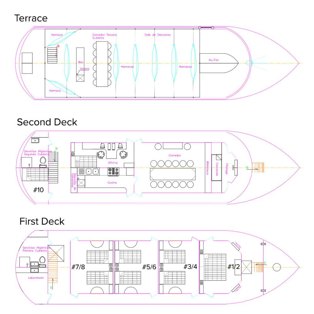 Selva Viva Deck Plan