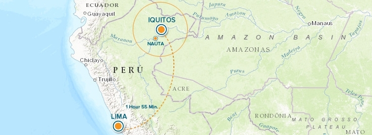 Peru Flight Map