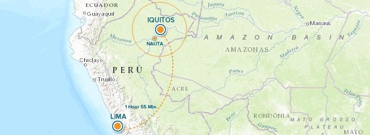 Peru Flight Map