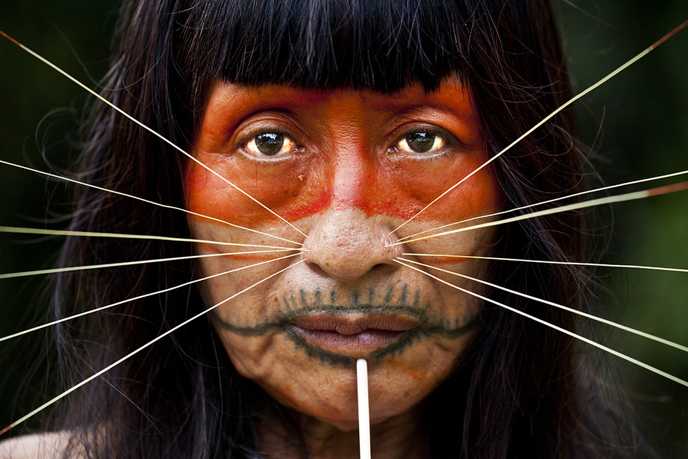 98885640a Meaning Behind Face Paint of Amazon Tribes | Rainforest Cruises