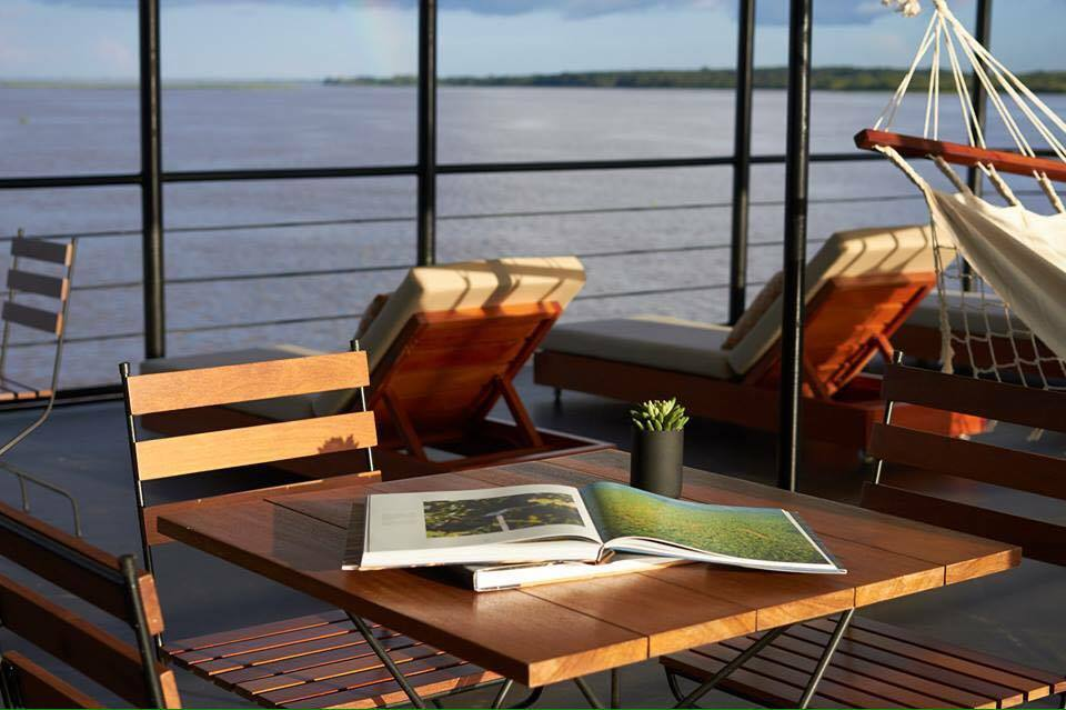 Relax on the sun deck of the Perla as you and your partner cruise the Amazon for less with this great offer.