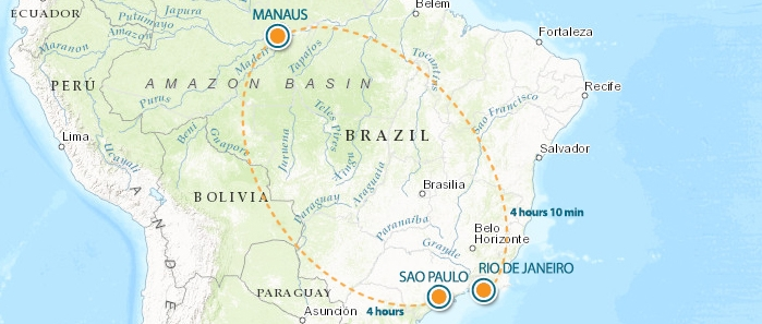 Manaus Flight Map