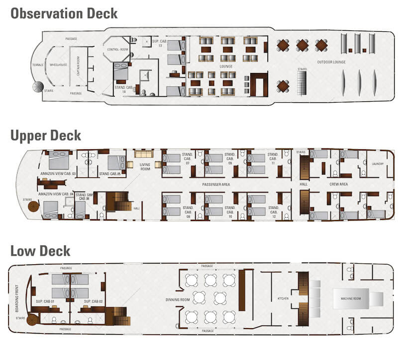 Perla Deck Plan