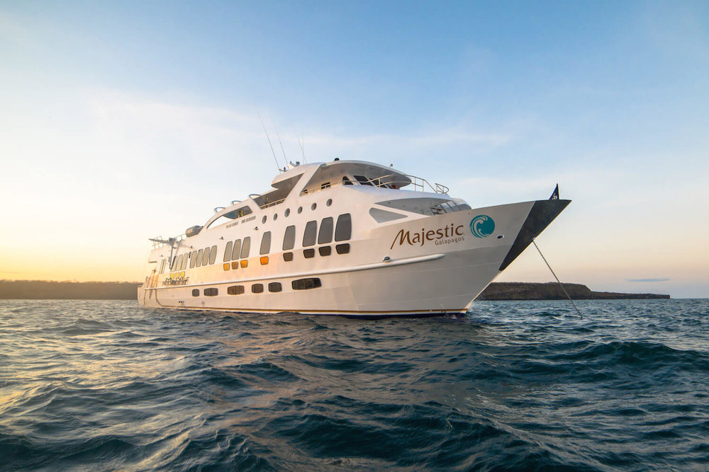 Incredible Galapagos Cruise Offers aboard a range of vessels including the aptly named Majestic Yacht