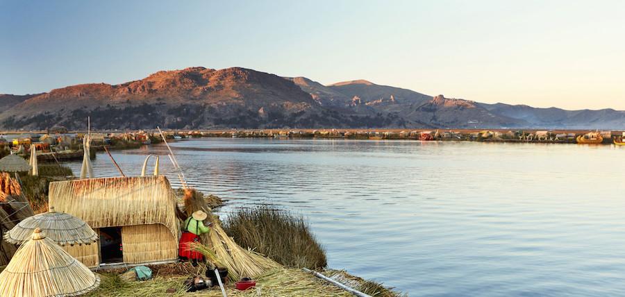 Puno Lake Titicaca Peru