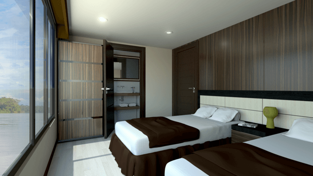 Render of cabin aboard the new Manatee newly launched in July 2017