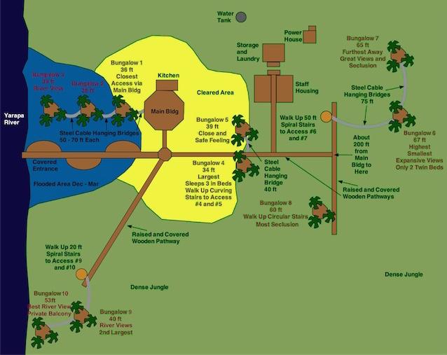 Treehouse Lodge Peru Map