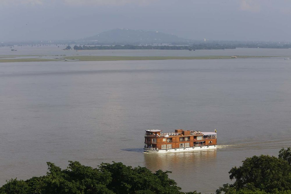 Cruising Irrawaddy River