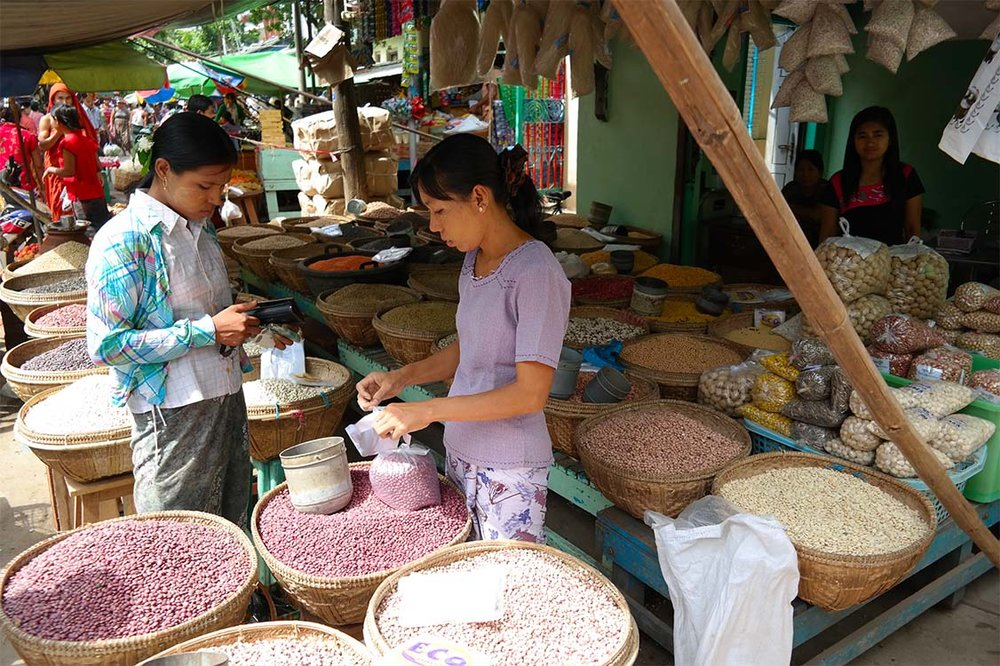 Typical Town Market - Myanmar