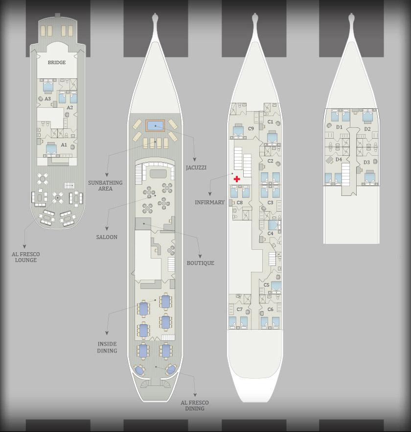 Evolution Yacht Deck Plan