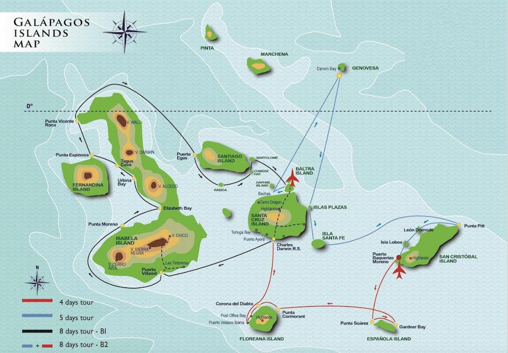 Anahi Galapagos Map