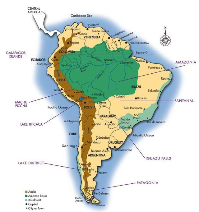 Amazon River In South America Map.Where Is The Amazon Rainforest Located Rainforest Cruises