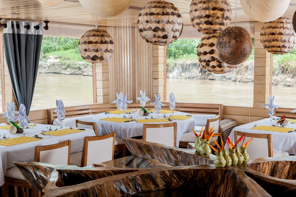 Delfin II Amazon Cruise Dining Room
