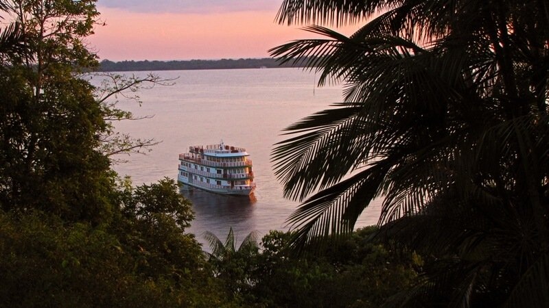 Clipper Premium Amazon Cruise at Sunset
