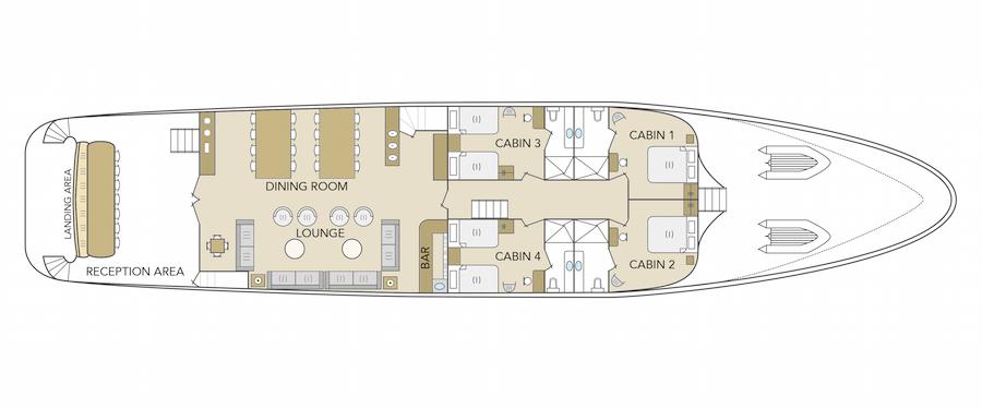 Odyssey Yacht Deck Plan