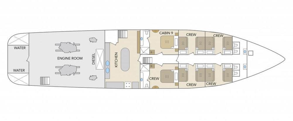 Deck Plan Odyssey Galapagos Cruise