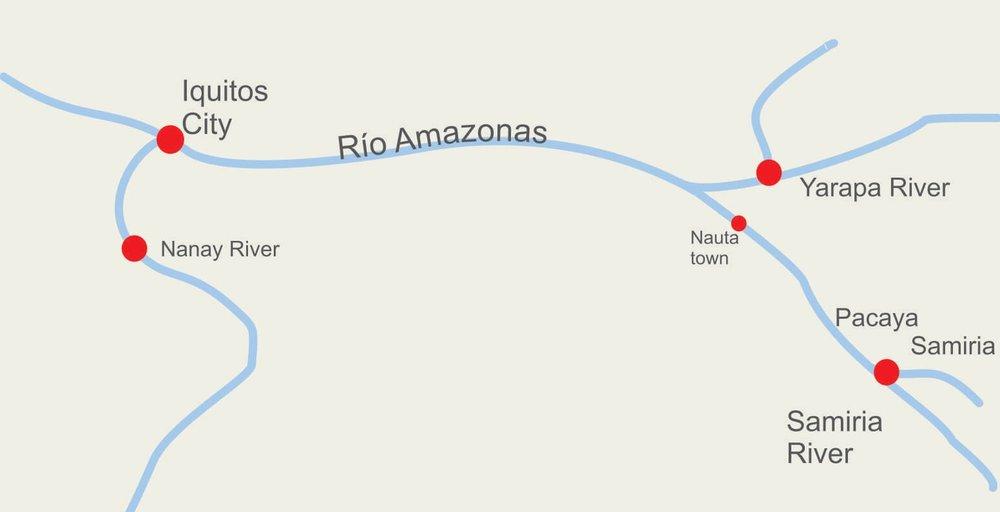 Amazon River Cruise Map