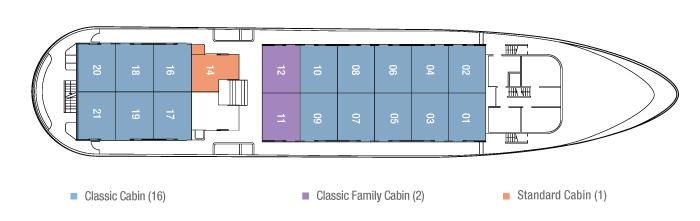 Galapagos Cruise Deck Plan