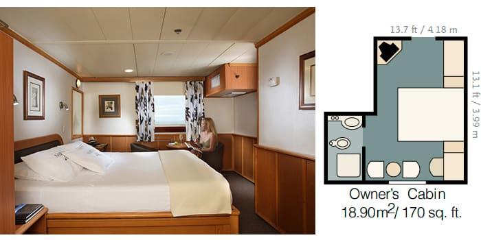owners cabin isabela ii galapagos cruise