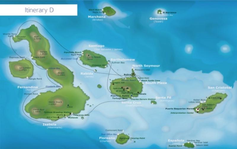 Galaxy II 8-Day Cruise Itinerary D
