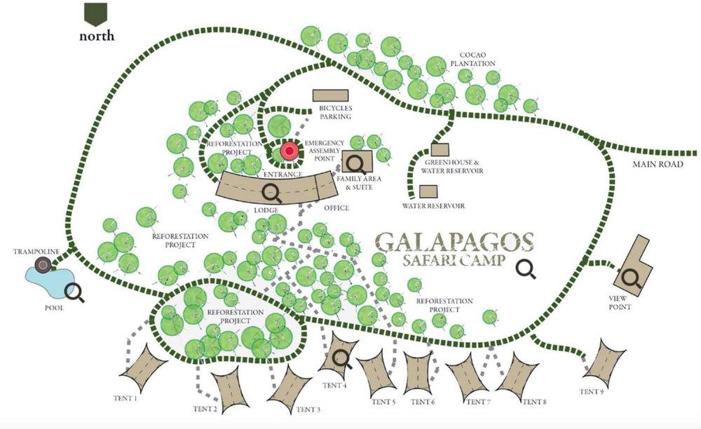 Galapagos Safari Camp Map