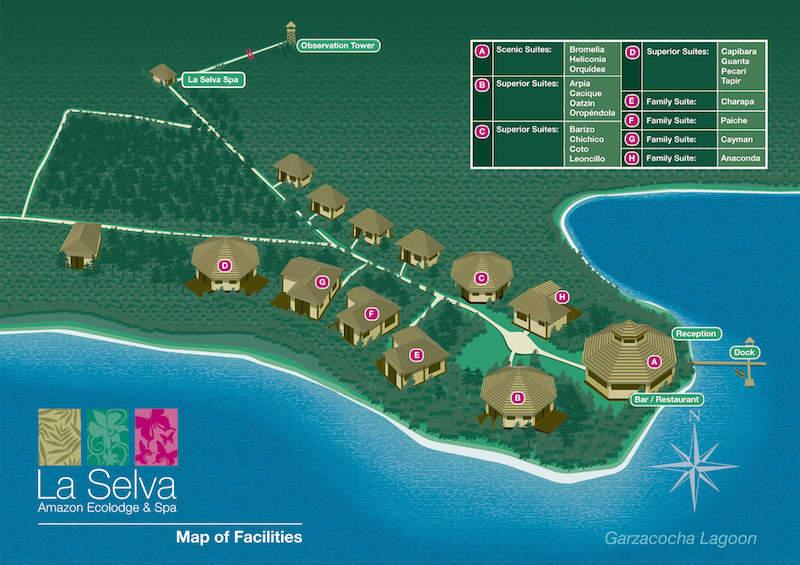 La Selva Lodge Map