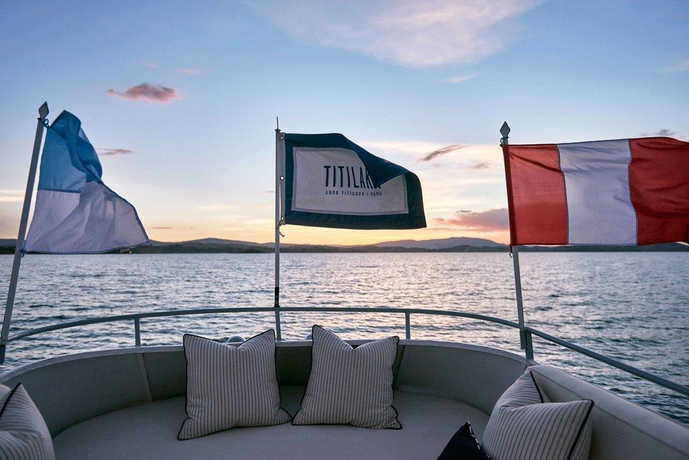 Titilaka sunset on the water