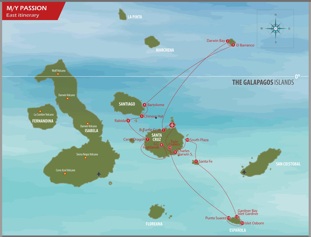 Eastern and Central Islands Itinerary