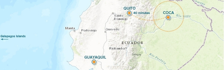Ecuador Flight Map