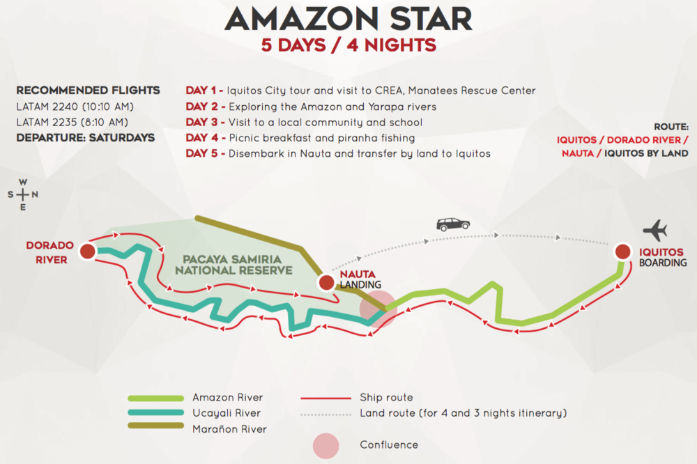 Amazon Star 5 Day Map