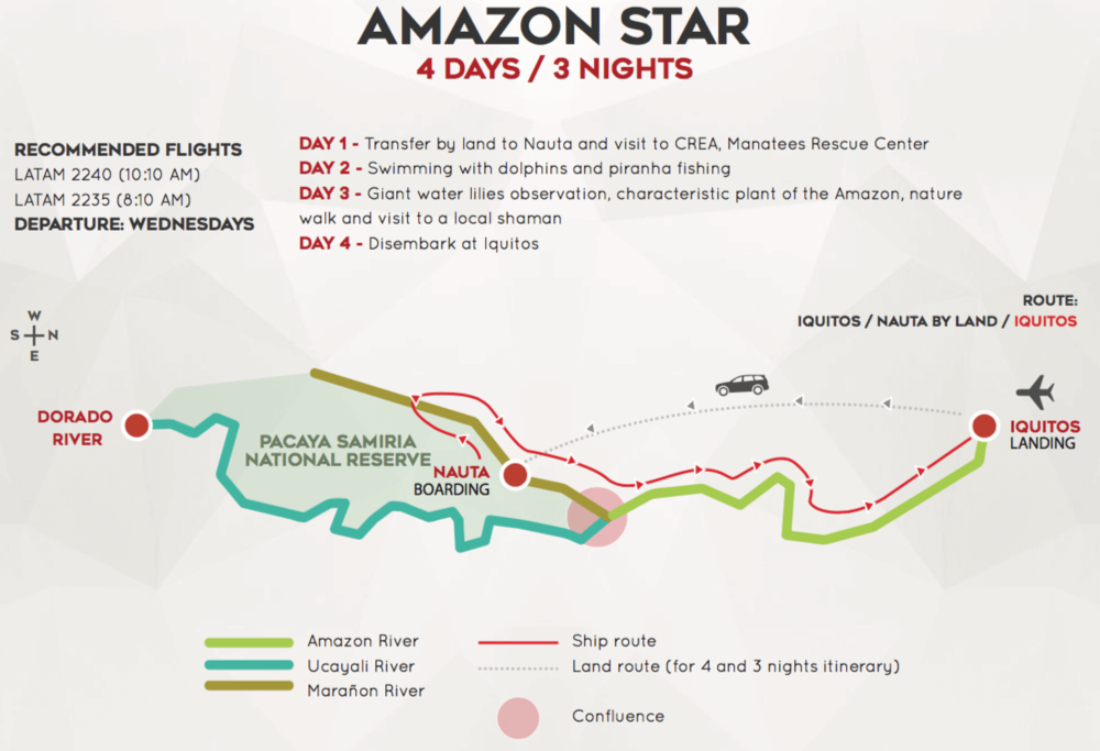 Amazon Star 4 Day Map