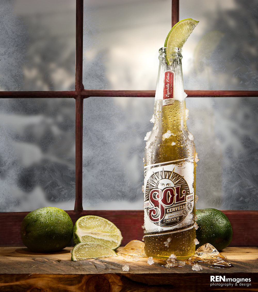 Sol Beer Product Photography