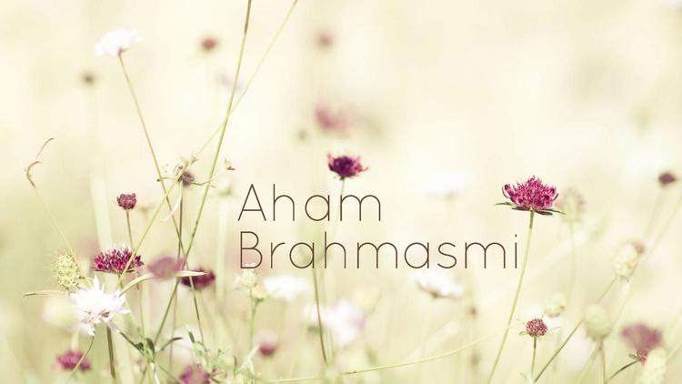 Aham Brahmasmi; I am the Universe.